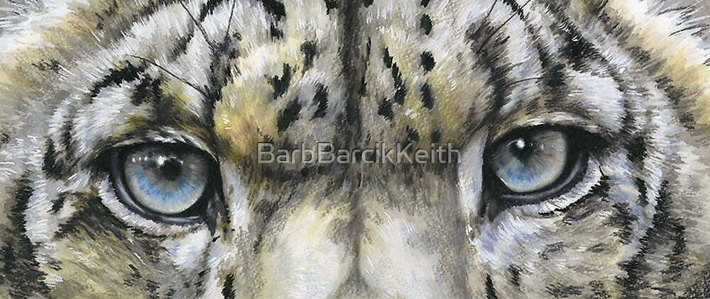 Eye-Catching Snow Leopard by BarbBarcikKeith
