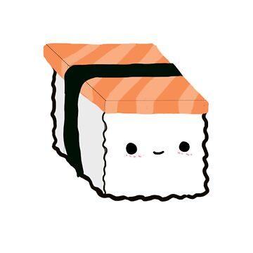 Kawaii Salmon Sushi by gwenysy123