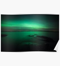 Mystic northern lights glow Poster