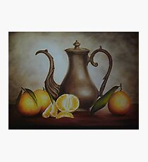 Pitcher with Oranges Photographic Print