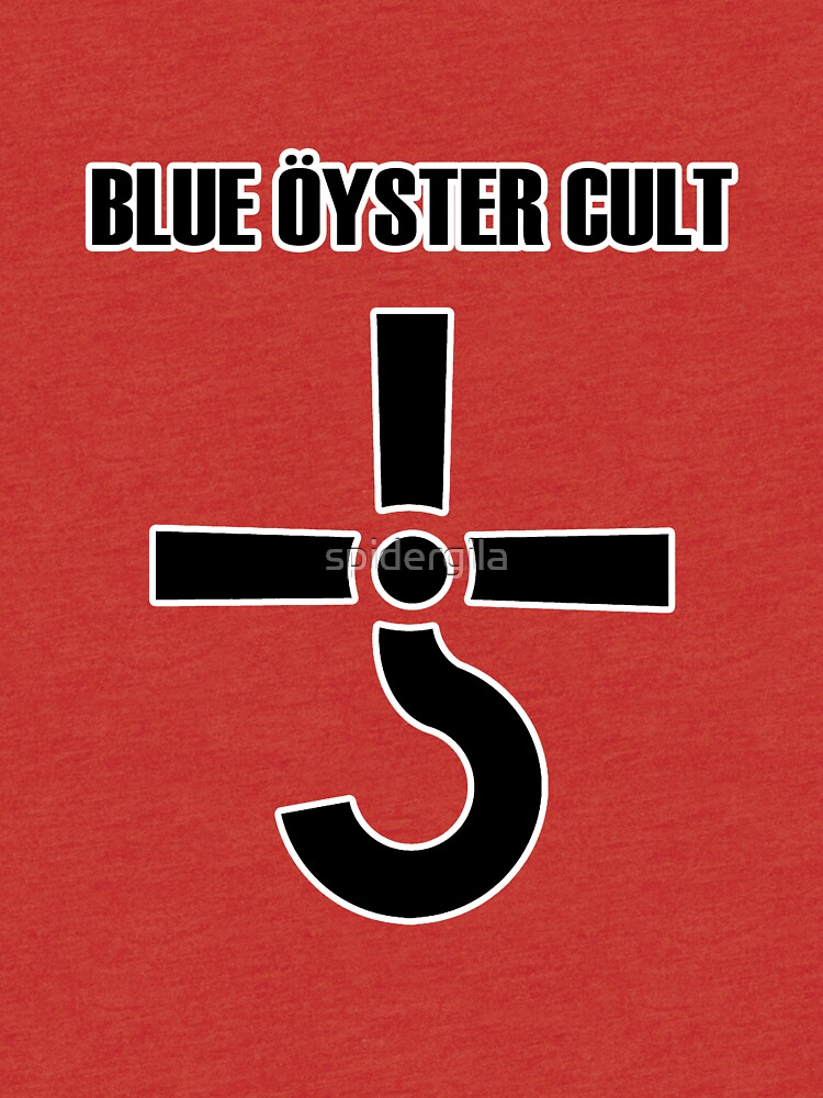 Blue Oyster Cult Logo Tri Blend T Shirt By Spidergila Redbubble