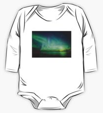 Northern lights over lake One Piece - Long Sleeve