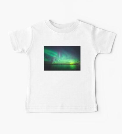 Northern lights over lake Kids Clothes