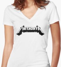 Metadata Women's Fitted V-Neck T-Shirt