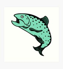 truite saumon Salmon trout Art Print