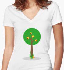 Nutmeg Tree Women's Fitted V-Neck T-Shirt