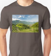 Rice fields in china Unisex T-Shirt