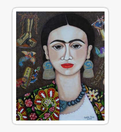 Frida thoughts  Sticker