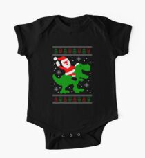 Ugly Christmas Sweater - Santa T-rex One Piece - Short Sleeve