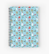 Christmas pattern with snowman Spiral Notebook