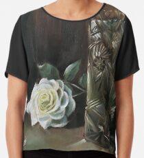Rose & Vase - March  Chiffon Top