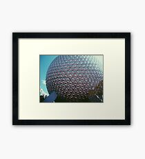 Epcot Spaceship Earth Framed Print