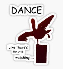 Crazy Bird Dance Sticker