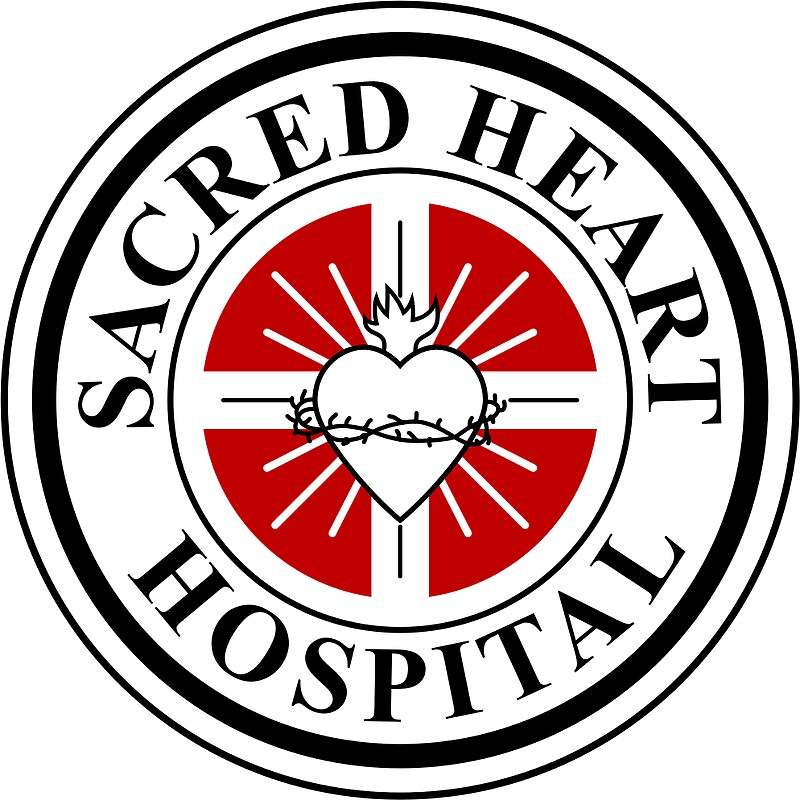 Sacred heart hospital scrubs stickers by anatomyofart redbubble sacred heart hospital scrubs by anatomyofart sciox Images