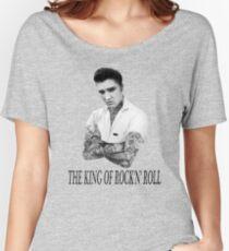 Elvis Presley Tattoo Rockabilly Vintage Women's Relaxed Fit T-Shirt