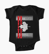 Canada Day - Canada Flag Ski Skiing  Kids Clothes