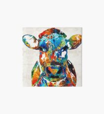 Colorful Cow Art - Mootown - By Sharon Cummings Art Board