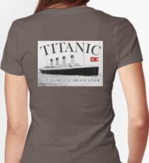TITANIC, RMS Titanic, Cruise, Ship, Disaster Womens Fitted T-Shirt