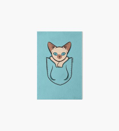 Pocket Siamese Kitty Cat Art Board
