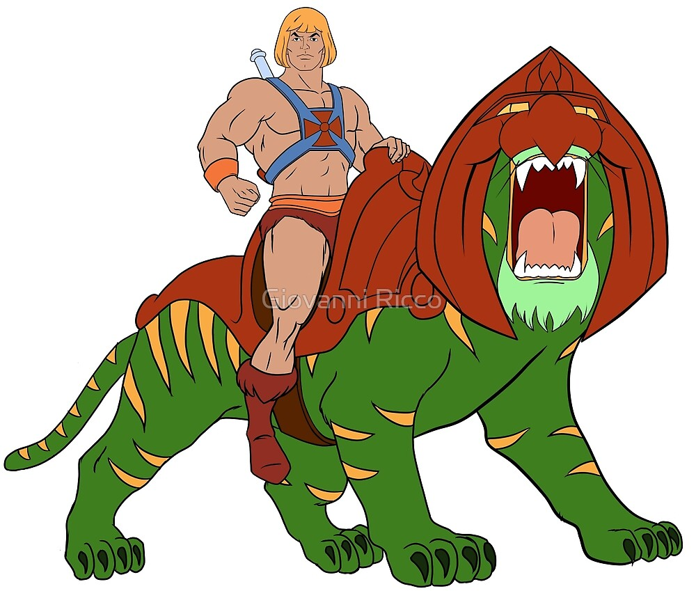 Quot He Man And Battlecat Filmation Style Quot By Giovanni Ricco