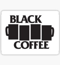 Black Coffee Punks Sticker