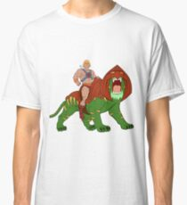 He-man and BattleCat Filmation Style Classic T-Shirt