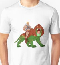 He-man and BattleCat Filmation Style Unisex T-Shirt