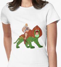 He-Man und BattleCat Filmation Style Tailliertes T-Shirt