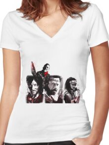 TWD Collection Women's Fitted V-Neck T-Shirt