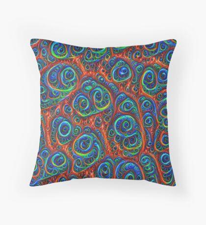 Dark Boost chromaticity #Deepdream Throw Pillow