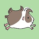 Leaping Guinea-pig ... Grey and White by Zoe Lathey