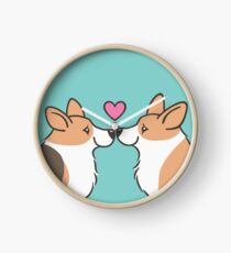 Corgi Love Clock