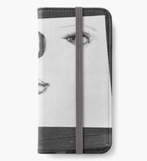 Facial Features Pen and ink art iPhone Wallet/Case/Skin