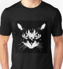 cat - b&w Unisex T-Shirt