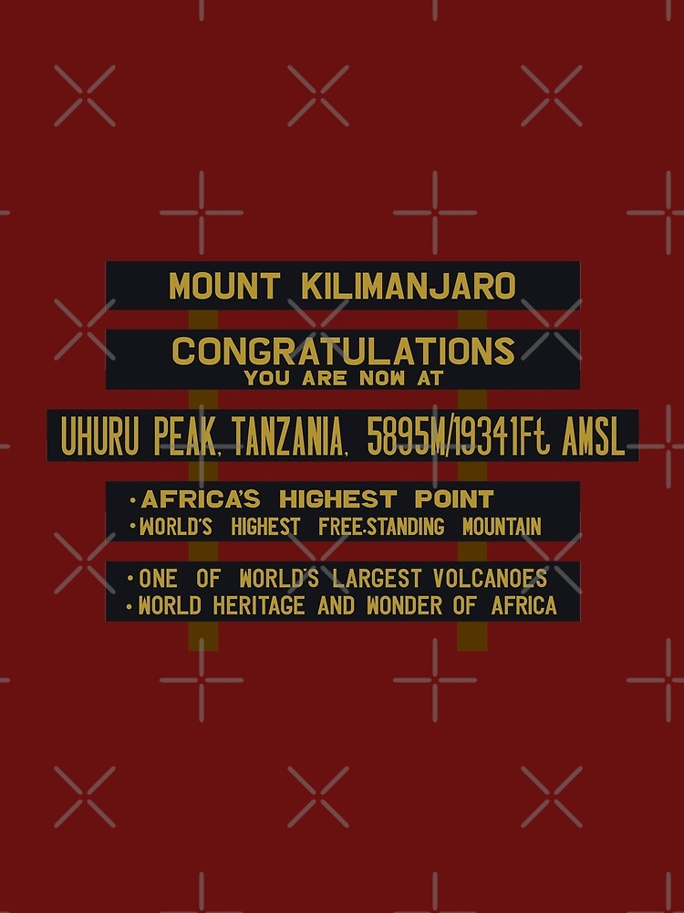 Mount Kilimanjaro, Uhuru Peak Sign, Tanzania by worldofsigns