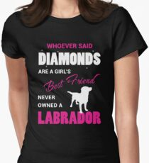 Never Owned A Labrador Womens Fitted T-Shirt