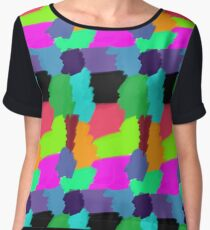 Colour Patches Women's Chiffon Top