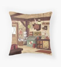Gravity Falls Background Throw Pillow