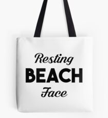 Resting Beach Face Tote Bag
