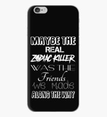 Maybe The Real Zodiac Killer... (White Text) iPhone Case