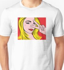 Pop art girl Unisex T-Shirt