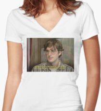 Time to Leave - Louis Theroux  Women's Fitted V-Neck T-Shirt