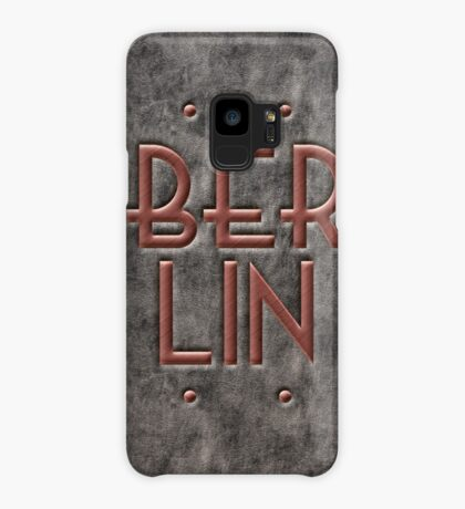 Berlin, leather and metal Case/Skin for Samsung Galaxy