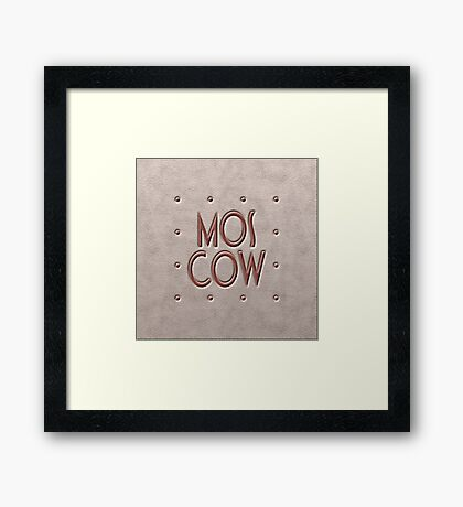 Moscow, leather and metal Framed Print
