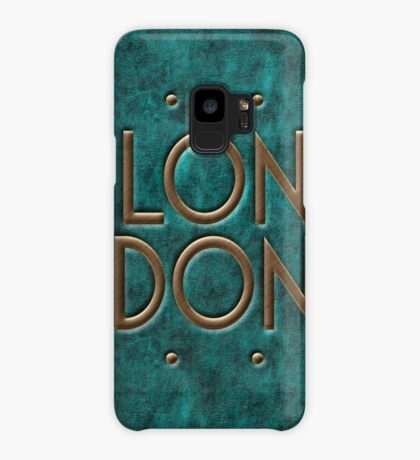 London, leather and metal Case/Skin for Samsung Galaxy