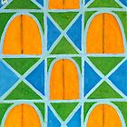 Lighted Arched Windows Pattern  by Heidi Capitaine