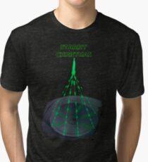 Starry Chrismas - Death Star Christmas Tree Tri-blend T-Shirt