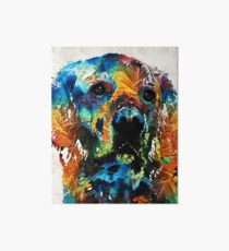 Colorful Dog Art - Heart And Soul - By Sharon Cummings Art Board