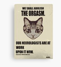 Orwellian Cat Has Some ISSUES Canvas Print