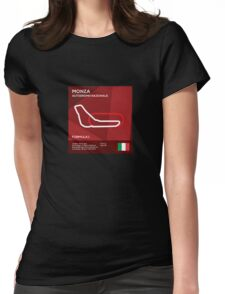 Monza racetrack Womens Fitted T-Shirt